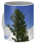 Tree Against A Cloudy Blue Sky In Vermont Coffee Mug