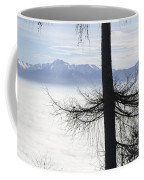 Tree And Fog Coffee Mug