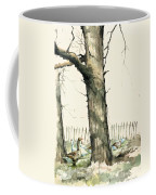 Tree And Geese Coffee Mug