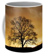 Tree At Golden Sunrise Coffee Mug