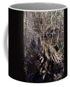 Tree Roots At The River Coffee Mug