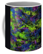 Tree Branches Lit With Abstract Colorful Projection Coffee Mug