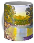 Tree Lined River Coffee Mug