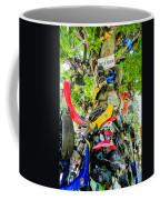 Tree Of Shame Near Tail Of Dragon Road In Nc Coffee Mug