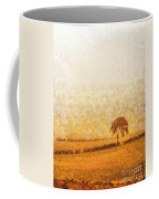 Tree On Hill At Dusk Coffee Mug by Pixel  Chimp