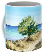 Tree On The Beach Coffee Mug by Veronica Minozzi