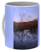 tree reflection on Wv pond Coffee Mug