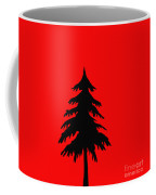 Tree Silhouette On A Red Background 2 Coffee Mug