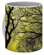 Trees Abstarct Yellow Coffee Mug