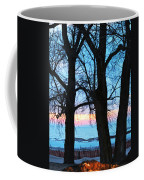 Trees And Sunset Coffee Mug