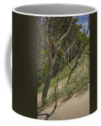 Trees At The Edge Of A Dune At Silver Lake Coffee Mug