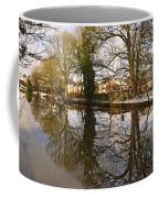 Trees Beside The Wintry Rolleston Pond Coffee Mug