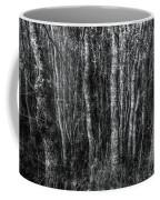 Trees In Black And White Coffee Mug