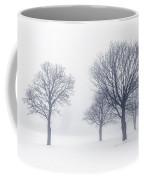 Trees In Winter Fog Coffee Mug
