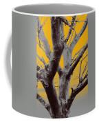 Winter Trees In Yellow Gray Mist 1 Coffee Mug