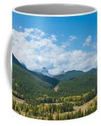Trees On Canadian Rockies Along Route Coffee Mug