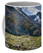 Trees On Top Of A Ridge At Glacier National Park Coffee Mug
