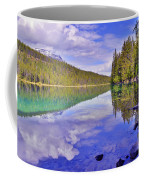 Trees Reflected At Valley Of The Five Lakes Coffee Mug
