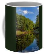 Trees Reflected On Mirrored Lake  Coffee Mug