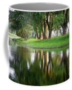 Trees Reflection On The Lake Coffee Mug by Heiko Koehrer-Wagner