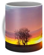 Trees Watching The Sunrise Panorama View Coffee Mug