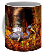 Tri Colored Heron - Reflection Coffee Mug