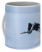 Tri Colored Heron Take Off Coffee Mug