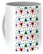 Triangular Dance Repeat Print Coffee Mug
