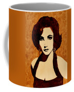 Tribute To Elizabeth Taylor Coffee Painting Coffee Mug