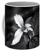 Trillium - Black And White Coffee Mug