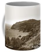 Trinidad Memorial Lighthouse And Fog Bell With Trinidad Head Circa 1948 Coffee Mug
