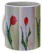 Trio Of  Red Tulips Coffee Mug