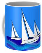 Trio Of Sailboats Coffee Mug