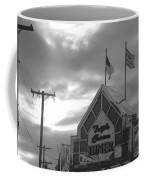 Triple Crown Diner In Black And White Coffee Mug