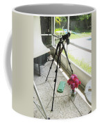 Tripod And Roses On Floor Coffee Mug
