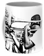 Trombone Man Bw Coffee Mug