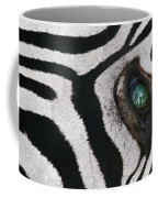 Trophy Hunter In Eye Of Dead Zebra Coffee Mug