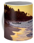 Tropical Beach At Sunset Coffee Mug