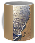 Tropical Beach With Footprints Coffee Mug