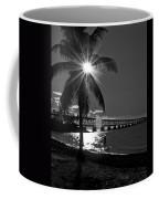 Tropical Bridge In Black And White Coffee Mug