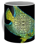 Tropical Fish Art 8 - Abstract Mosaic By Sharon Cummings Coffee Mug