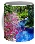 Tropical Garden Around Pool Coffee Mug