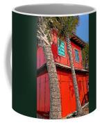Tropical Orange House Palm Trees - Whoa Now Coffee Mug
