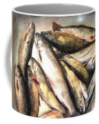 Trout Digital Painting Coffee Mug by Barbara Griffin