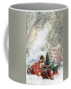 Truck Carrying Christmas Trees Coffee Mug