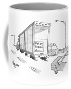 Truck With Sign On Back How's My Texting? Coffee Mug