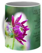 True Face - Poem - Flower Coffee Mug