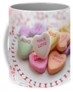 True Love Valentine Candy Hearts Coffee Mug