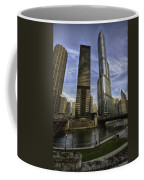 Trump Tower And River Front Coffee Mug