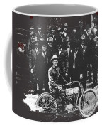 Tucson Police Department  On Steps Of City Hall With 1st Police Motorcycle C. 1917 Tucson Arizona Coffee Mug
